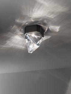 Luminária de teto LED de cristal TRIPLA | Luminária de teto de cristal - Fabbian