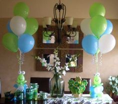 Image result for blue and green balloon decorations
