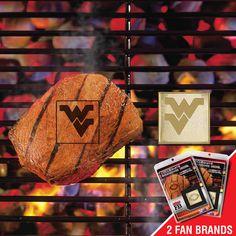 West Virginia Mountaineers NCAA Fan Brands Grill Logo(2 Pack)