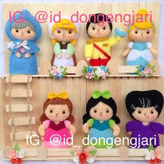 Cinderella finger puppet.. Visit my instagram (on pic) for more of my creation