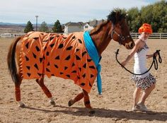 horse and rider costumes | Horse Fancy Dress Ideas: Flintstones