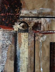 Oriental Influence No.11 by Carol Staub Mixed Media Collage ~ 41 x 33