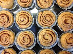 6 ägg 3 msk kokossocker ½ dl kokosmjölk 1 dl kokosmjöl 1 dl smält kokosolja 2 tsk nystött kardemumma 2 tsk bakpulver 4 msk psyllium (eller fiberhusk)   Fyllning   Kokosolja Kanel Kokossocker  http://undervarttak.blogspot.se/2013/03/kanelbullar-paleo-recept-enkelt.html?spref=fb