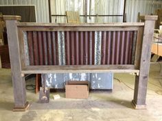 a different kind of headboard - Before After DIY Farmhouse Furniture, Furniture Plans, Rustic Furniture, Diy Furniture, Garden Furniture, Outdoor Furniture, Rustic Headboard Diy, Rustic Bedding, Barn Wood Projects