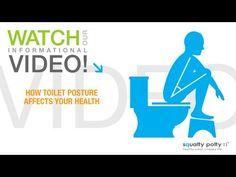 Squatty Potty® toilet stool: How toilet posture affects your health - YouTube.  This is why I have a stool in my bathroom!!!