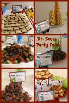Dr. Seuss Food, great for a party