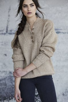 Callahan heather camel Henley pullover sweater is so cool and easy. This cozy knit features a button front detail in a heather camel marled yarn. Fall Cardigan, Pullover Sweaters, Camel, Knitting, Fashion, Moda, Tricot, Fashion Styles, Breien