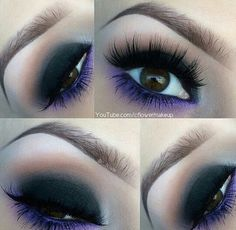 Purple and black makeup