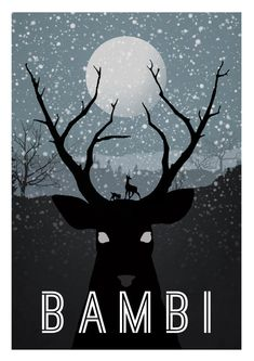 "Minimalist Disney Art Posters for $22.00 each. 12"" x 17"", shipped from the U.K. Bambi is my favorite, but they have Lion King, Sleeping Beauty, Snow White, and many more!"