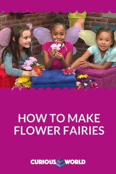 If you can't get outside with the kids today to plant a flower, make one inside with this adorable Flower Fairies craft. Flower Fairies, Flower Petals, Diy Craft Projects, Craft Ideas, Fairy Skirt, Make Time, How To Make, Fairy Crafts, March 12th