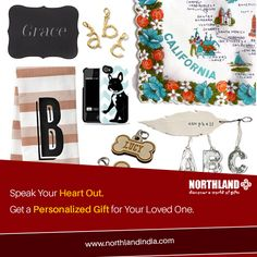 One Stop Shop for Personalized gifts ! You Think , We Create. #Custom #Gift #Love #Northland http://www.northlandindia.com/category/personalised-gifts/128