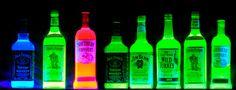 Glowing blacklight reactive liquid Emo Bedroom, Bedroom Ideas, Blacklight Party, Neon Room, Hookah Lounge, Crown Royal, Where The Heart Is, Best Part Of Me, Night Club