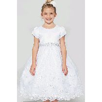 Satin and Organza First Communion Dress features embroidered organza skirt. Shop White First Communion Dresses for Girls for Sale. Buy First Communion Dresses with Satin and Organza on Sale Size 14 Dresses, Dresses For Sale, Girls Dresses, Flower Girl Dresses, Girls First Communion Dresses, Holy Communion Dresses, Buy Dress, Ball Gowns, Size 12