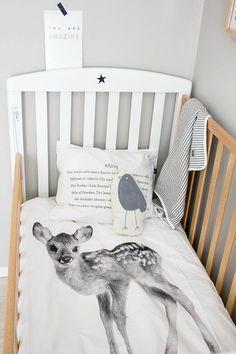 Een babykamer met grafische invloeden | Wooninspiratie