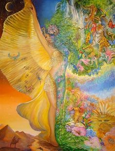 """Goddess Between Realms 1"" par Josephine Wall"