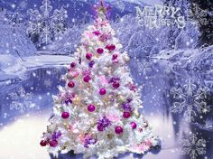 Image detail for -Beautiful Christmas Tree - Christmas Wallpaper - Fanpop . Christmas Desktop, Merry Christmas Wallpaper, Pink Christmas Tree, Beautiful Christmas Trees, Christmas Scenes, Winter Christmas, Christmas Tree Decorations, Holiday Decor, Pink Decorations