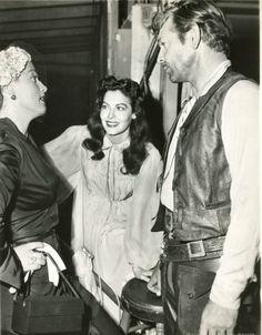 Ava Gardner and Clark Gable on the set of Lone Star (1952).