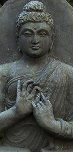 Gandhara Buddha  This statue of the Buddha as a teacher reflects the zenith of the Gandhara school.  Inspired by greek sculptors from Persia this hellenistic style evolved from the first until the fourth century A.D.