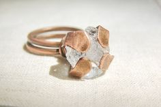 Cocktail ring summer cristal ring copper jewelry by JD4dreamer, $23.00