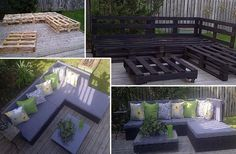 Use old pallets to transform your deck or patio. What a great idea!