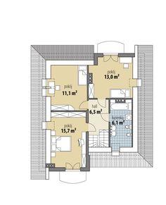 Casă de vis cu mansardă in suprafată de 78 m² – Case De Vis