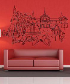 Vinyl Wall Decal Sticker Bangkok #1376 | Stickerbrand wall art decals, wall graphics and wall murals.