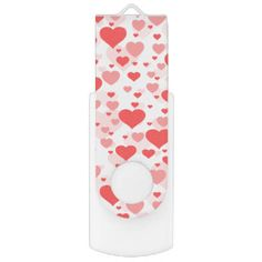 Customizable Background Color for Hearts Swivel USB 2.0 Flash Drive