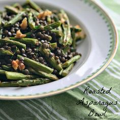 Roasted Asparagus Bowl from @winnieab | www.healthygreenkitchen.com