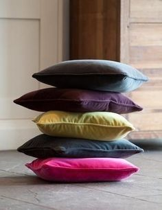 Smooth Velvet Cushions from Rose & Grey