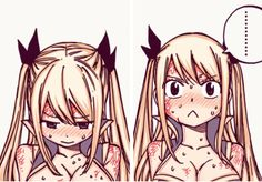 "Lucy Heartfilia ""Lucy strip!"" The reality of what she was about to do..."