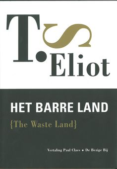 Dutch edition of The Waste Land