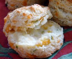 Twirl and Taste: Flakey Cheesy Biscuits - perfect with a bowl of soup or chili