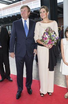 King Willem-Alexander of The Netherlands and Queen Maxima of The Netherlands attend the opening of Holland Festival on 01.06.2014 in Amsterdam, Netherlands.