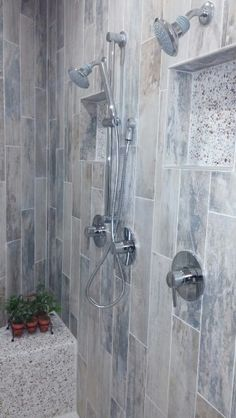 Double Shower Head Bath
