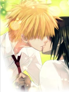✮ ANIME ART ✮ anime couple. . .romantic. . .love. . .sweet. . .kiss. . .tie. . .passion. . .sparkling. . .cute. . .kawaii