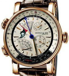 Arnold & Son True North Perpetual 1QPAR.S07A.C20BD - швейцарские мужские часы наручные, золотые, белые