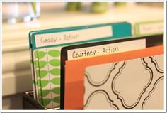 Brilliant idea for organizing important pieces of paper and knowing what you need to do and what you have done!