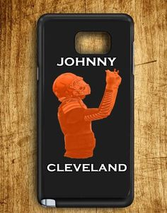 Johnny Cleveland Browns Football Johnny Manziel Texas A&m Draft Day Samsung Galaxy Note Edge Case