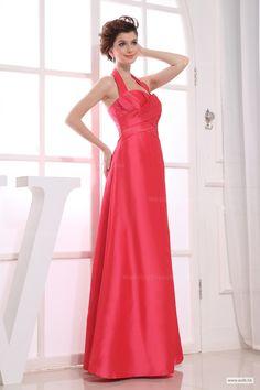 bohemian wedding Halter floor length simple ruffle gown for bridesmaids $124.98