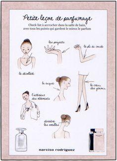 Leçon de parfumage sur mon blog