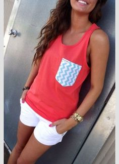 Summer Beachy curls tank tops shorts and summer tan. - Tank Tops - Ideas of Tank Tops - Summer Beachy curls tank tops shorts and summer tan. Cute Summer Outfits, Cute Outfits, Summer Clothes, Casual Summer, Dress Outfits, Beach Clothes, Outfits 2016, Beach Outfits, Dresses 2016