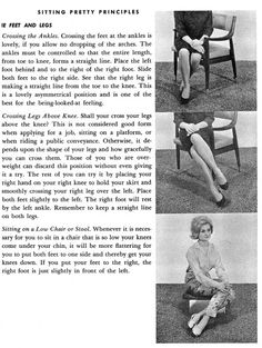 The Lindy Charm School for Girls: From the Desk of Miss Chrissy - October 2011 Ettiquette For A Lady, Posture Fix, Bad Posture, Lady Rules, Dining Etiquette, Etiquette And Manners, Good Manners, Table Manners, Finishing School