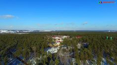 Санаторий Красиво зимой, видео съёмка Ultra HD, 4К с квадрокоптера