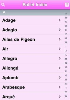A fast, cross referenced glossary of Ballet Terms. Data is stored on your iPhone, no network connectivity required.