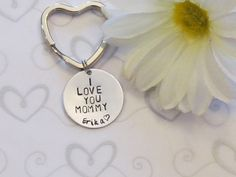 MOMMY Key chain -- Heart Key Chain -Mom Birthday gift --Mothers day Gift