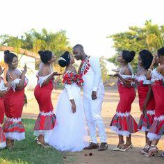 mwa's traditonal venda wedding - Venda, a Bantustan in northern South Africa African Print Wedding Dress, African Bridesmaid Dresses, African Print Dress Designs, African Wedding Attire, African Prints, Couples African Outfits, African Fashion Dresses, African Dress, Venda Traditional Attire