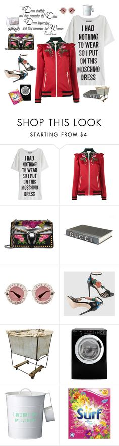 """Laundry Day- new styles are born"" by juliabachmann ❤ liked on Polyvore featuring Chanel, Moschino, Gucci, E. Lawrence, Ltd., Candy and Bloomingville"