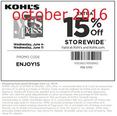 Free Printable Coupons: Kohls Coupons