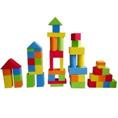 Colorati 3D Costruzioni Giocattoli di Puzzle 55 Pezzi Schiuma EVA Blocco Gioco per Bambini 3 4 Anni