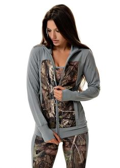 Trail Running? This jacket versatility suits your every athletic need. - Breathable Fabric - Lightweight - Thumb Holes and Two Pockets - GWG Reflective Graphic and Trim ITEM# Mat Camo Outfits, Girl Outfits, Country Girls Outfits, Pink Camo, Designing Women, What To Wear, My Style, Country Style, Girl Style
